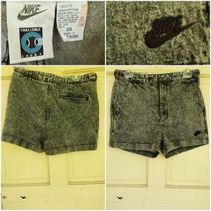 Nike Shorts - Vintage Acid Wash Nike Denim Shorts